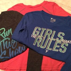 3 Girls Size 10-12 Old Navy Active Go-Dry Shirts